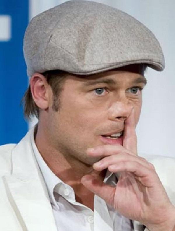 Brad Pitt Picking His Nose