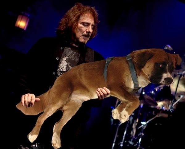 Geezer Butler Playing Dog Bass