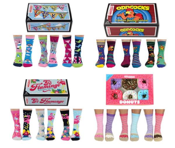 United Oddsocks Sock Gift Sets (Him and Her)