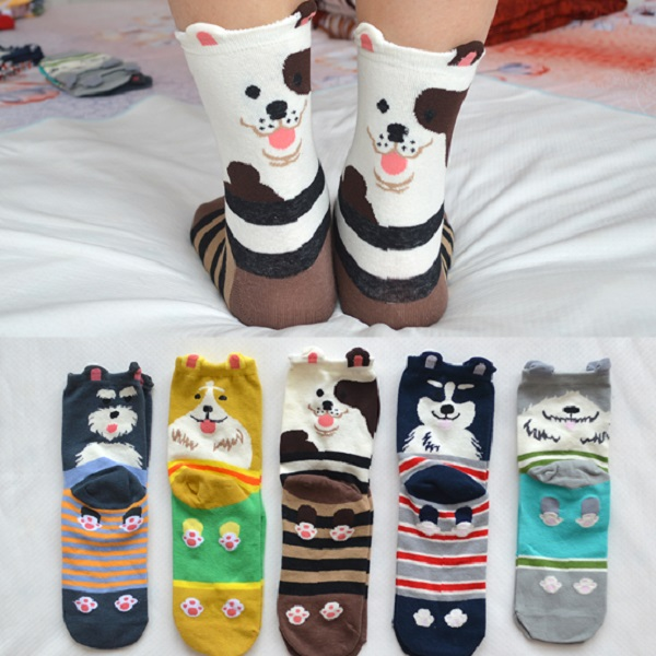 Cute Cartoon Dog Sock Gift Sets (Her)