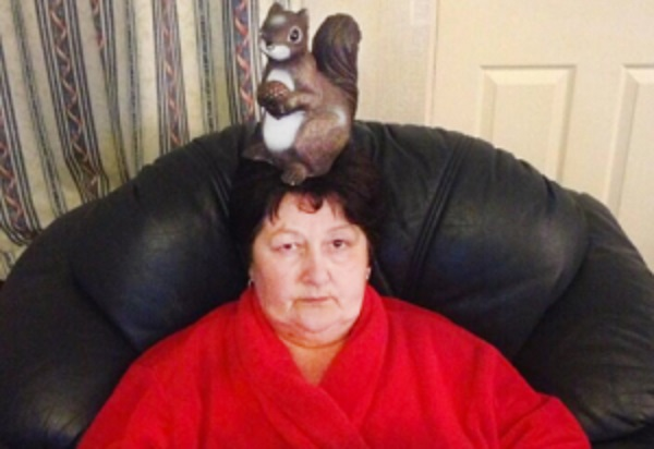 Squirrel on Nan's Head