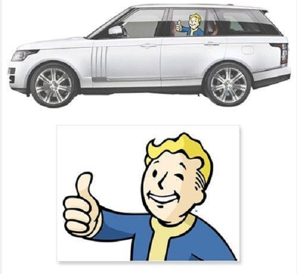 Fallout 4 Vault Boy Driver's Side Car Decal