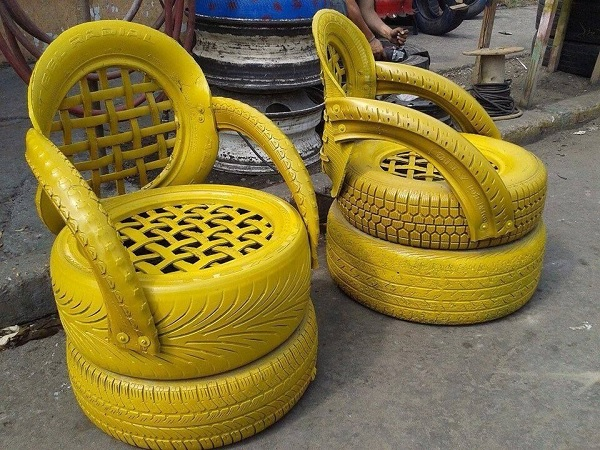 An Armchair Made From Recycled Tyres