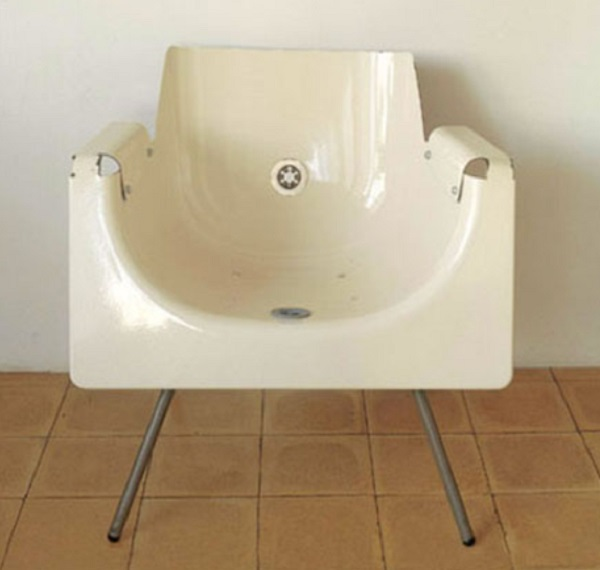 An Armchair Made From a Recycled Bathtub