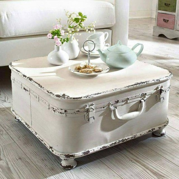 A Coffee Table Made From Recycled Suitcases