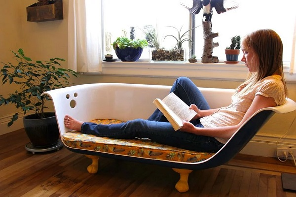 A Sofa Made From a Bath Tub