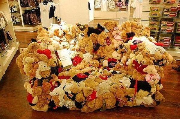 A Sofa Made From Teddy Bear Toys