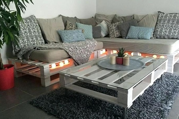 A Sofa Made From Wooden Pallets