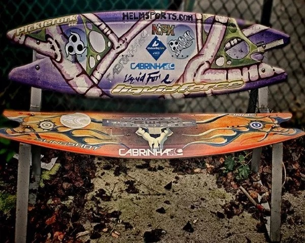 A Garden Bench Made From Recycled Surfboards