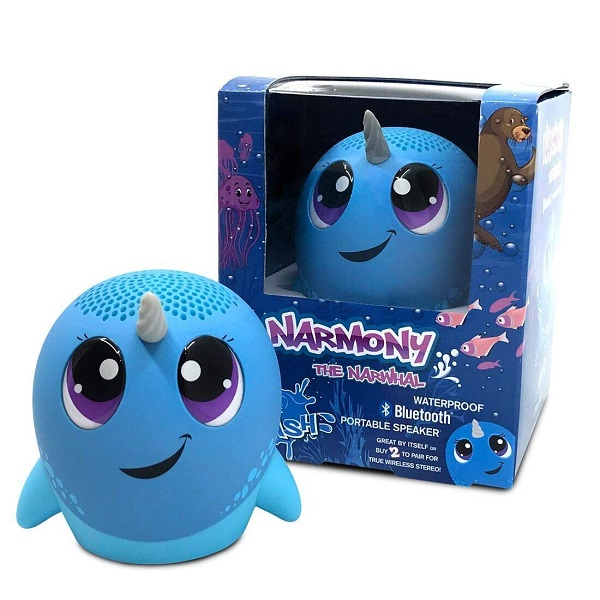 Narmony The Narwhal Shaped Waterproof Bluetooth Portable Speaker