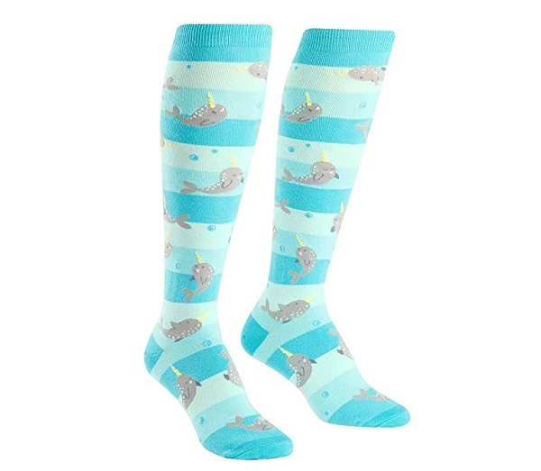 Narwhal Knee-High Funky Socks