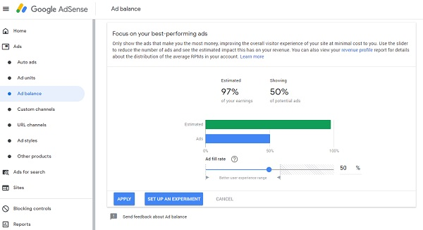 Adsense Features You Are Probably Not Utilizing - Ad balance