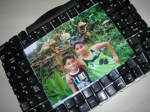 A Picture Frame Made From Recycled PC Keyboard