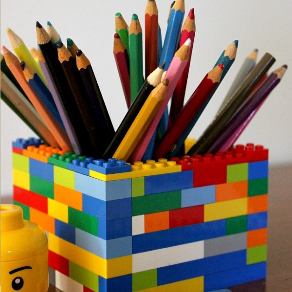 A Stationery Holder Made From Lego