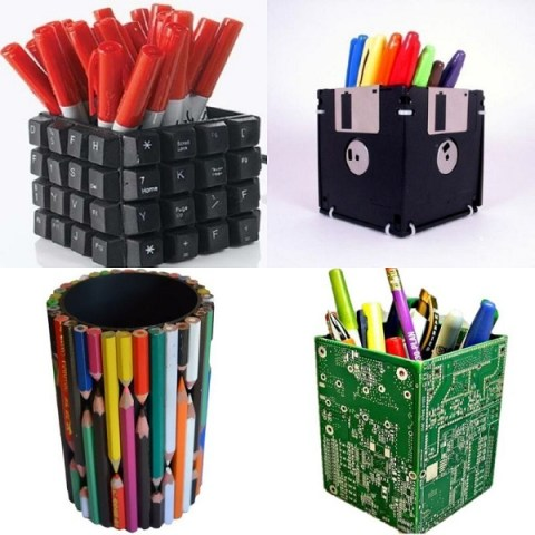 Ten Amazing Stationery Holders Made From Recycled Things