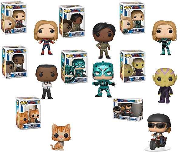 Funko Pop Captain Marvel Complete Collection