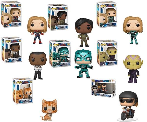 Funko Pop Captain Marvel Complete Collection