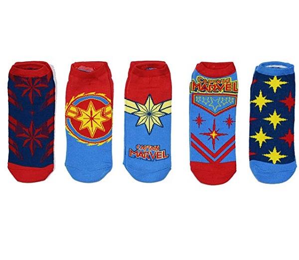 Marvel Captain 5 Pack of Ankle Socks