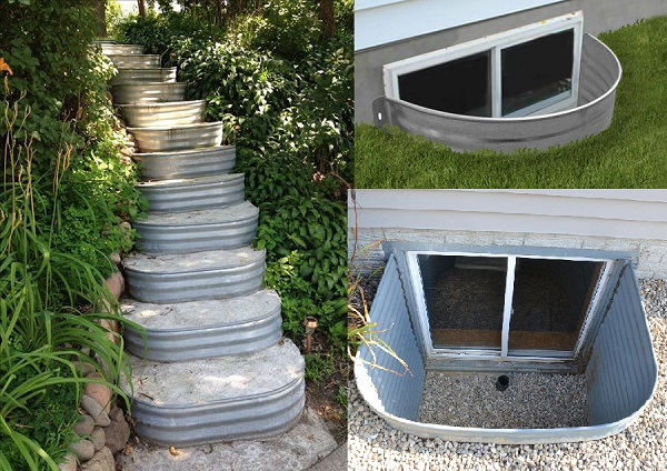 A Staircases Made From Window Wells