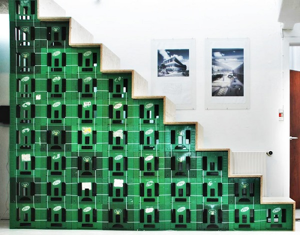 A Staircases Made From Milk Crates