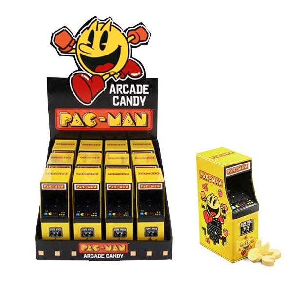 Pac-Man Arcade Machine Candy Tins X12