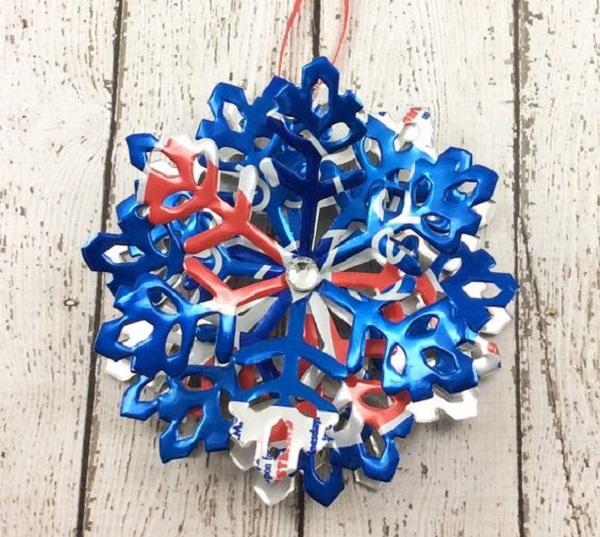 Pepsi Can Snowflake Festive Ornament
