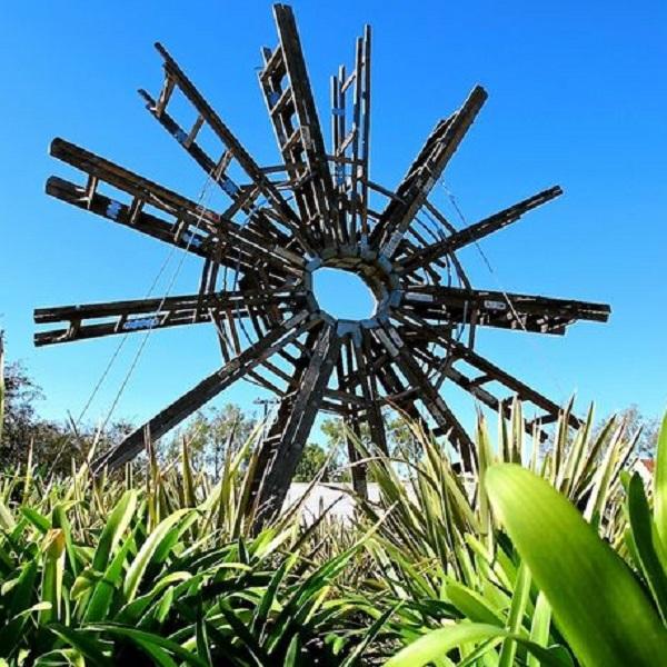 Metal Ladders Turned into Garden Art