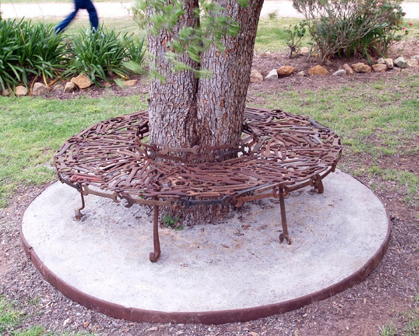 Spanner Turned Into A Sculpture Garden Seat
