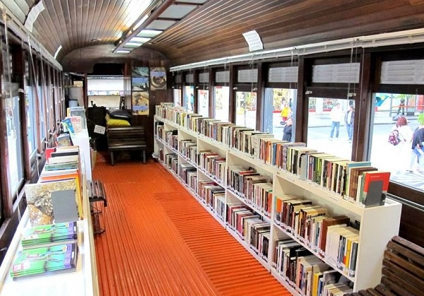 Old Train Carriage Turned into a Library