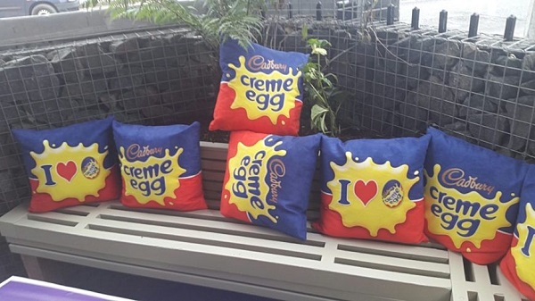Cadbury's Creme Egg Cushion