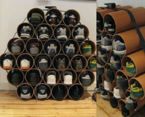 Plastic Drain Pipe Turned into a Shoe Holder (Shoe Organiser)