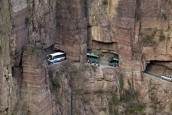 The Worlds Scariest Roads - The Goulian Tunnel Road, China