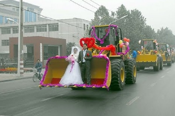 Funny Wedding Transport - Construction Equipment