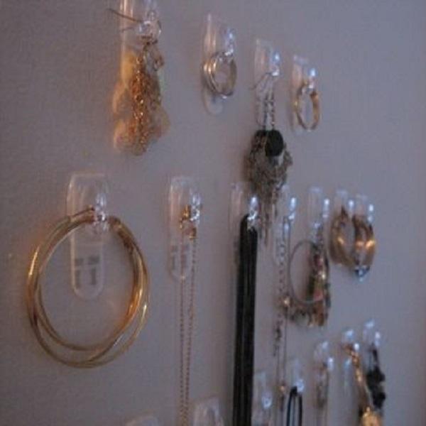 Command Hooks Turned into Jewellery Holders