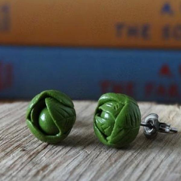 Brussels Sprout Earrings