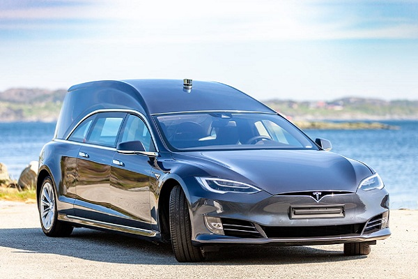 Tesla Hearse