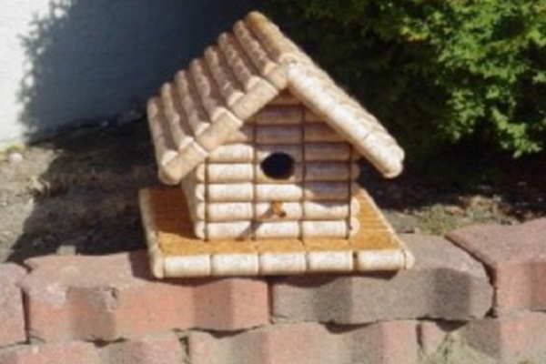 Corks Used to Make a Birdhouse