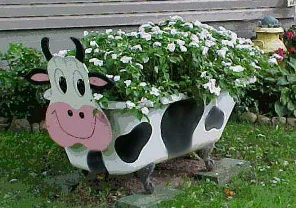 Large Garden Planter Made From a BathTub