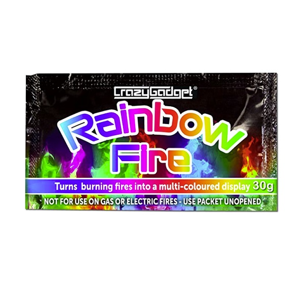 Rainbow Fire Log