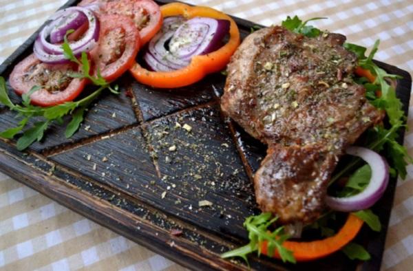 10. Wooden Steak Serving Board