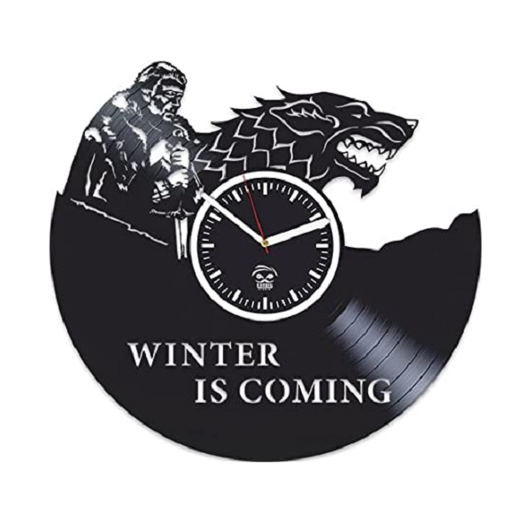 Winter Is Coming Branded Vinyl Wall Clock
