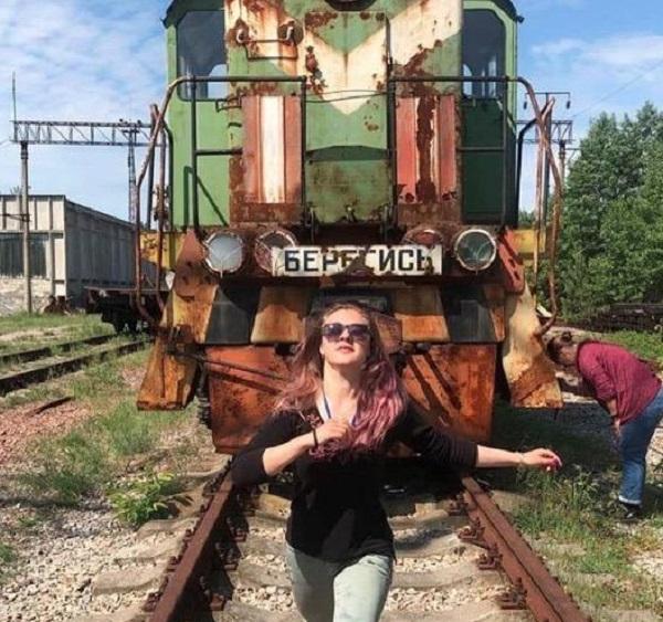 The Railway Track Selfie