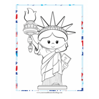 July 4th Coloring Sheet