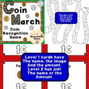 First Grade Math Aides - Coin Match Game