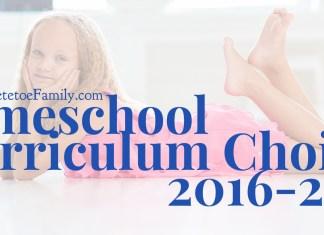 Homeschool Curriculum Choices 2016-2017