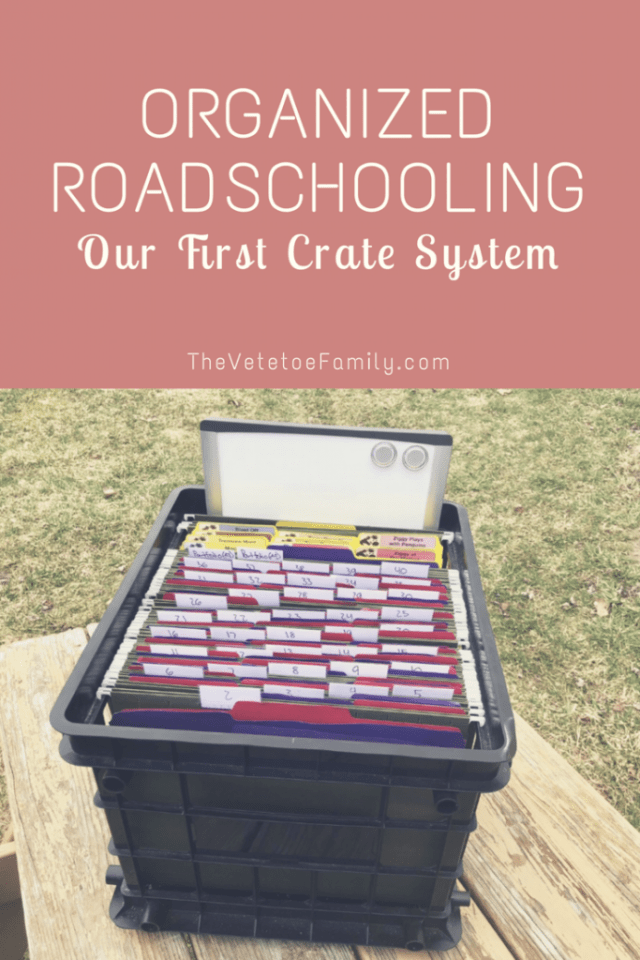 Organized Roadschooling - Our First Crate System
