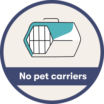 no pet carriers