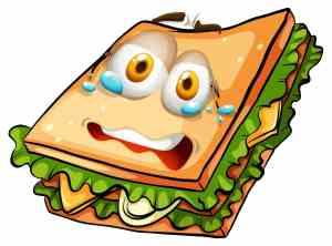 image of a nervous sandwich