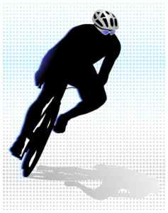 image of person bicycling