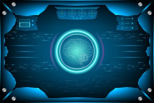 illustration of a brain scan